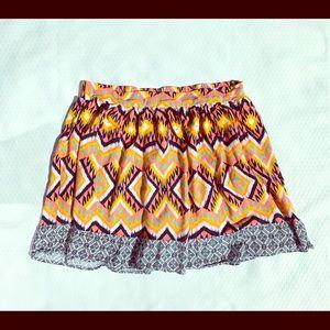 Xhilaration Aztec Print Skirt